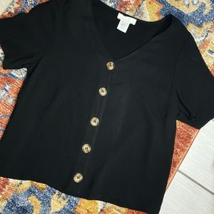 Black button down top | size small